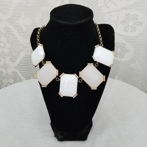 Gold Filled and White Necklace